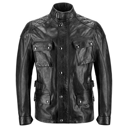 Belstaff Turner leather jacket in antique black