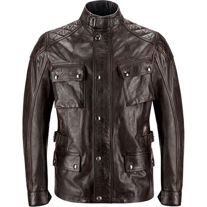 Belstaff Turner leather jacket in brown / black