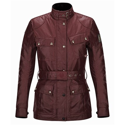Belstaff ladies Trialmaster wax cotton jacket in cardinal red