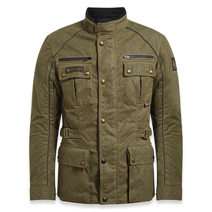 Belstaff Tourmaster Pro wax cotton jacket in military green