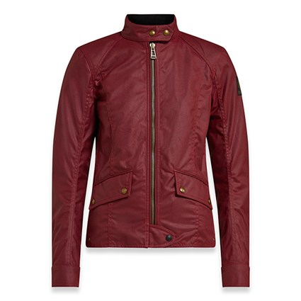 Belstaff Antrim wax cotton ladies jacket in red