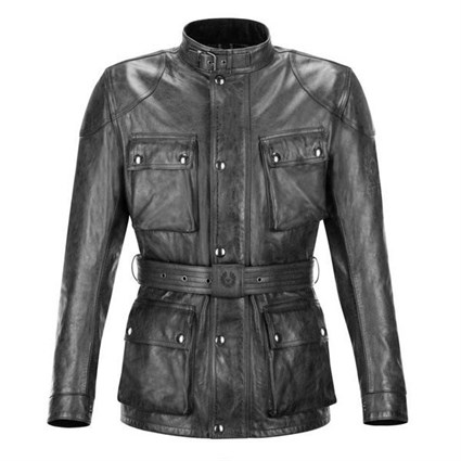 Belstaff Aintree Trialmaster leather jacket in black