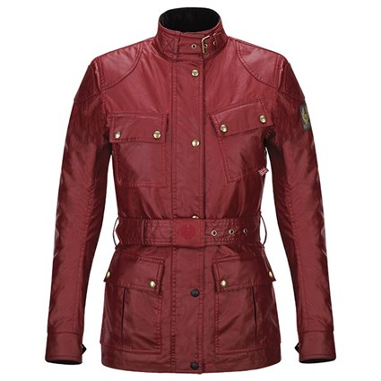 Belstaff ladies Trialmaster wax cotton jacket in red