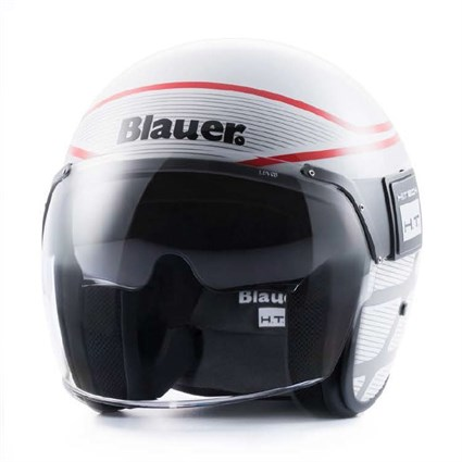 Blauer Pod Graphic B helmet in gloss white