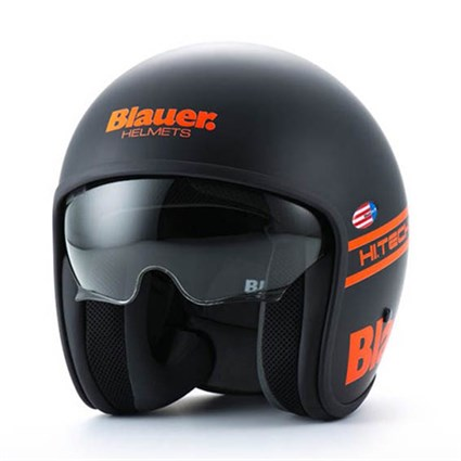Blauer Pilot 1.1 helmet in matt black / orange