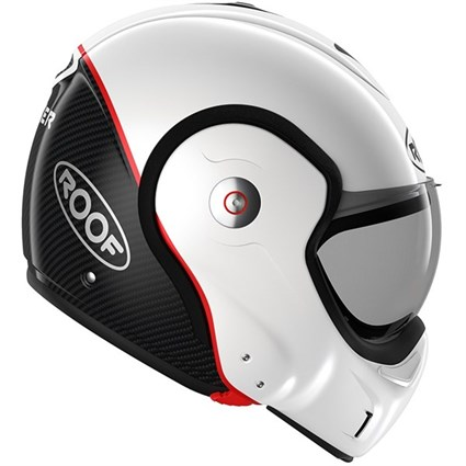 Roof Boxxer Carbon UNI helmet in pearl white