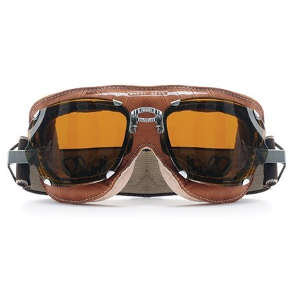 Baruffaldi Super Competition Goggles in Brown with Clear Lenses