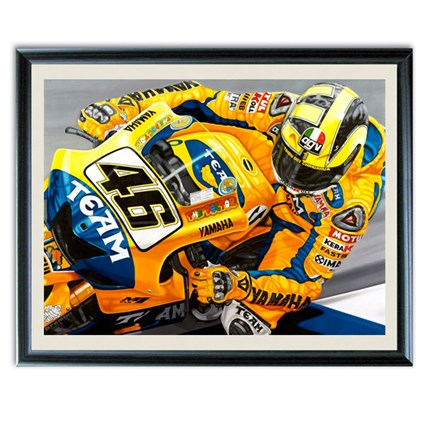 Valentino Rossi 'The People's Champion' Print