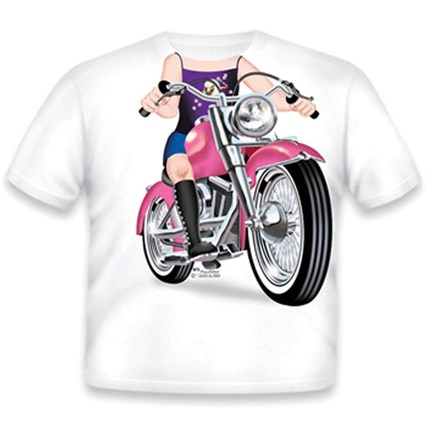 Little Tees Girls Biker T-Shirt Girls