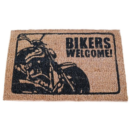 Bikers Welcome Door Mat