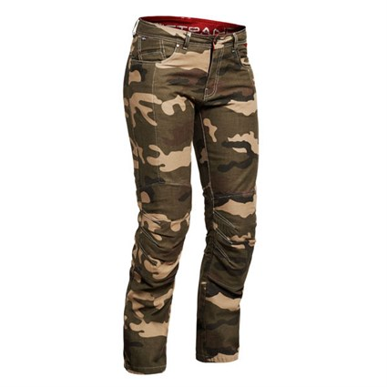 Halvarssons ladies Wrap jeans in beige camo