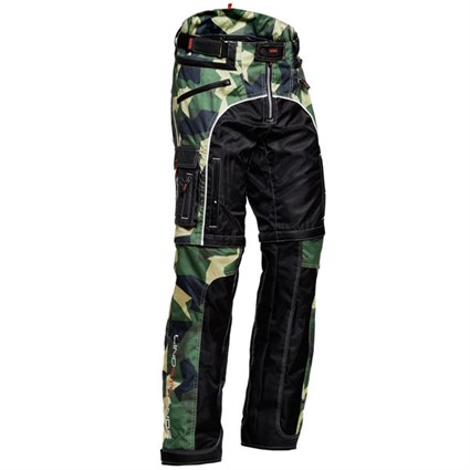 Halvarssons Lizard trousers in green camo