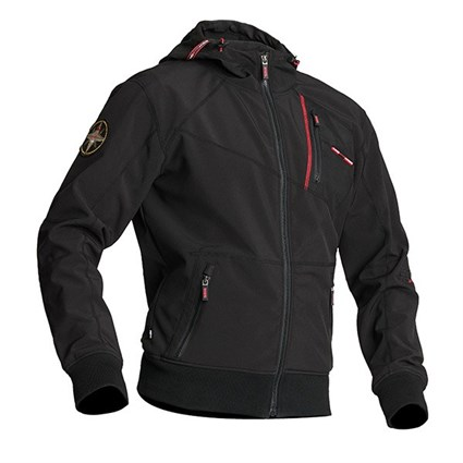 Halvarssons Raggy softshell fleece in black