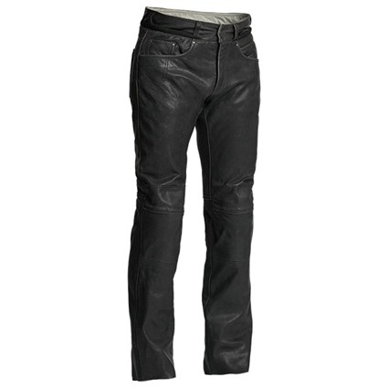Halvarssons Seth Leather trousers in black
