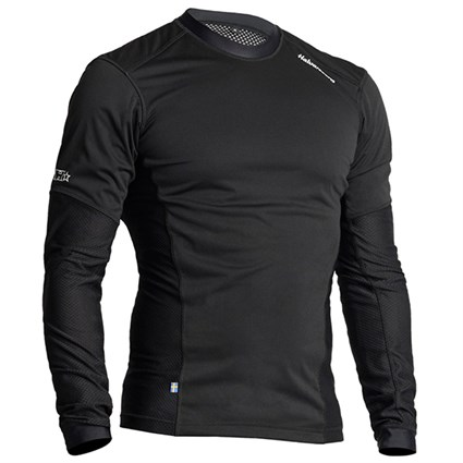 Halvarssons Mesh Wind sweater in black