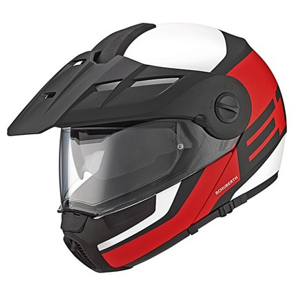 Schuberth E1 helmet in guardian red