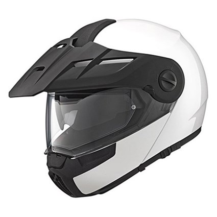 Schuberth E1 helmet in gloss white