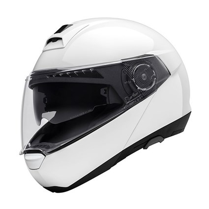 Schuberth C4 helmet in gloss white