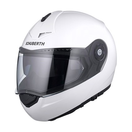 Schuberth C3 Pro helmet in gloss white
