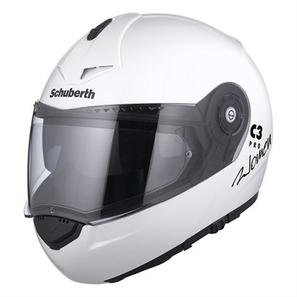 Schuberth C3 Pro ladies helmet in gloss white
