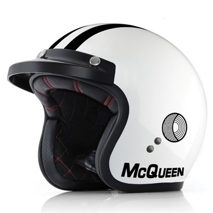 McQueen On Any Sunday helmet in white