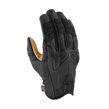 Icon Axys gloves in black / tan