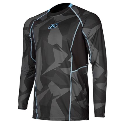 Klim Aggressor Cool base layer long-sleeve shirt in camo