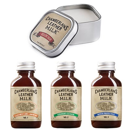 Chamberlain's Leather Milk Healing Balm, clean, condition and protect bundle