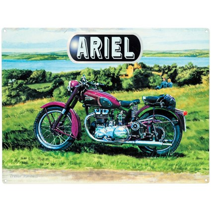 Ariel Motorcycle Metal Sign
