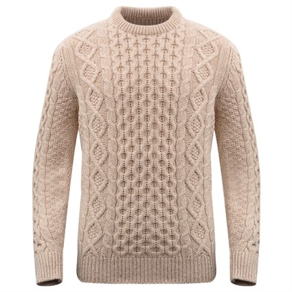 McQueen Arran Jumper in wheat cream