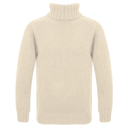 Motolegends Woollen Rollneck in ecru