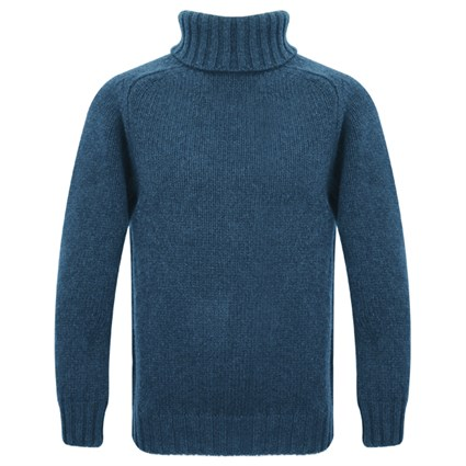 Motolegends Woollen Rollneck in airforce blue