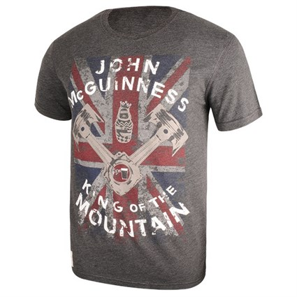 Red Torpedo McGuiness King of the Road T-shirt in grey