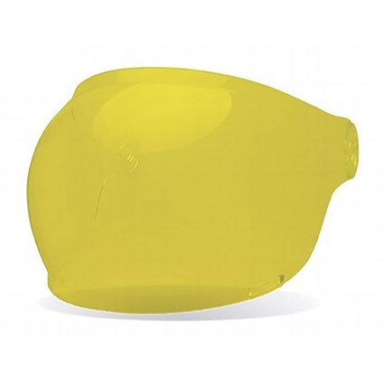 Bell Bullitt Bubble visor in yellow with brown tabs