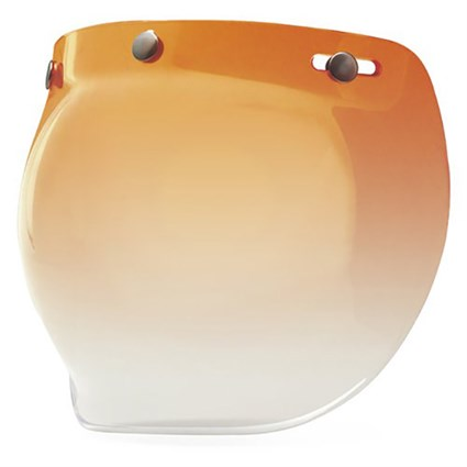 Bell 3 Snap Bubble visor in amber gradient