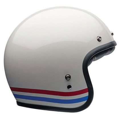 Bell Custom 500 Stripes helmet in white