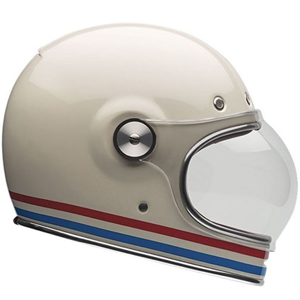 Bell Bullitt helmet in stripes vintage white