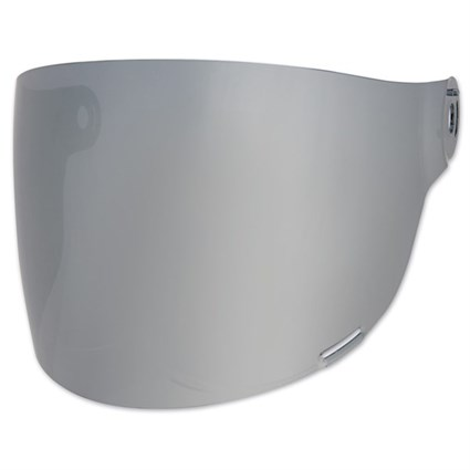 Bell Bullitt Flat visor in silver with brown tabs