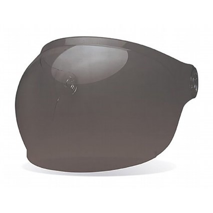 Bell Bullitt Bubble visor in Dark Smoke with brown tabs