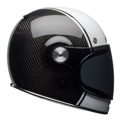 Bell Bullitt Carbon helmet in white / carbon pierce