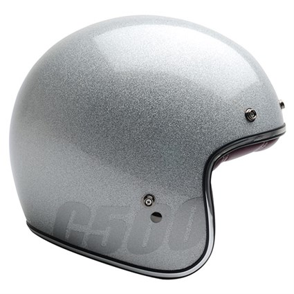 Bell Custom 500 helmet in silver flake