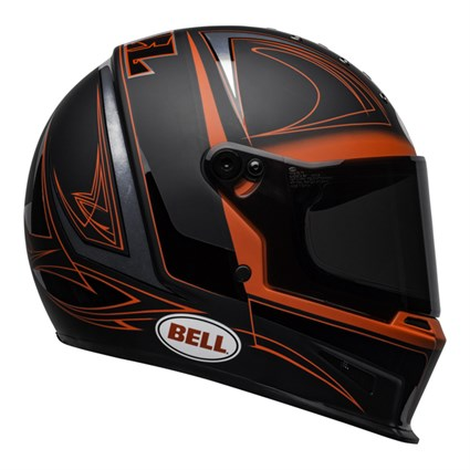 Bell Eliminator Hart Luck helmet in black and red