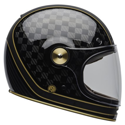 Bell Bullitt Carbon RSD Check It helmet in black and gold
