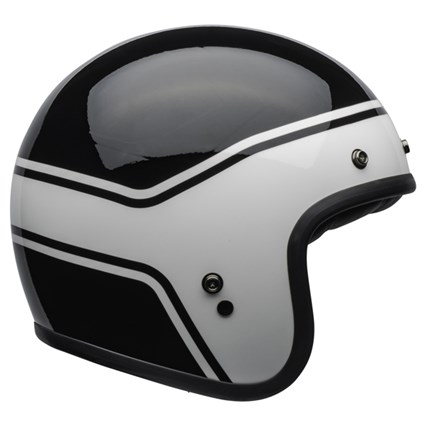Bell Custom 500 DLX Streak Gloss helmet in black and white