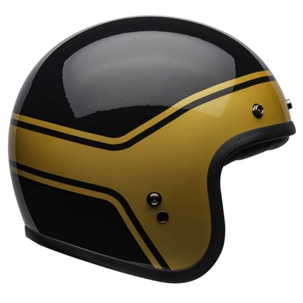 Bell Custom 500 DLX Streak Gloss helmet in black and gold