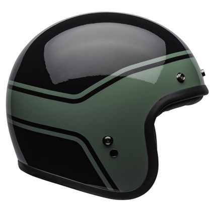 Bell Custom 500 DLX Streak Gloss helmet in black and green
