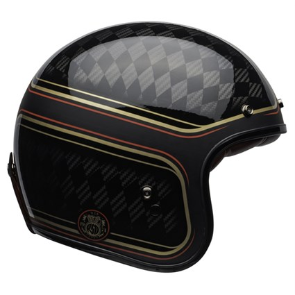 Bell Custom 500 Carbon RSD Checkmate helmet in matt/gloss black and gold