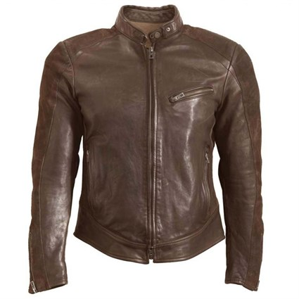 Rokker Cafe Racer jacket in brown