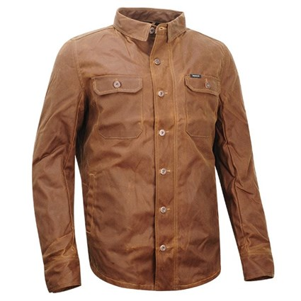 Rokker Wax Cotton Shirt in tan