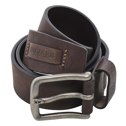 Rokker Kansas leather belt in brown